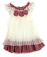 Шифоновое белое платье для девочки