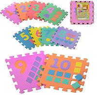Мягкий коврик-пазл мозайка цифры M 0375