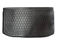 Коврик в багажник Nissan Micra (K13) 2013- (AVTO-GUMM)
