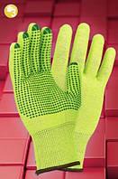 Перчатки защитные трикотажные с точкой RJ-POLV, фото 1