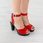 Босоножки Woman's heel красные (О-645), фото 2