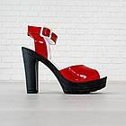 Босоножки Woman's heel красные (О-645), фото 5
