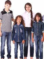 Джинсовые брюки для мальчиков и девочек