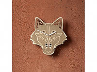 Деревянные часы Серый волк