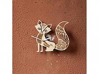 Деревянные часы Лиса Патрикеевна