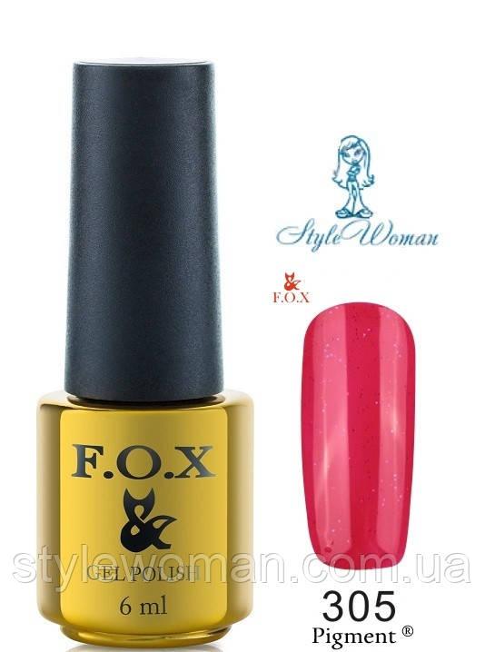 Fox Gel Polish Фокс гель лак 6 мл №305