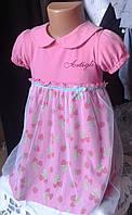 Платье хлопок  на девочку 1- 4 года