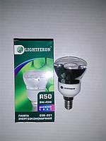 Энергосберегающая лампа LIGHTFERON R50 Р50 9W 9вт E14 4100К белый свет. Софит. Точечный свет