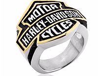 Мужское массивное кольцо Harley-Davidson сталь 316L Вечное
