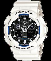 Часы мужские наручные в стиле Casio G-Shock GA-100 белые с черным (Касио Джи Шок) электронные противоударные, фото 1