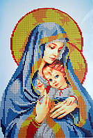 """Схема для вышивки бисером """"Богородица с младенцем"""""""