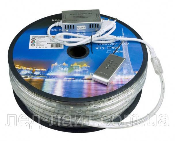 Светодиодная лента 220В 5050(60LED/м) IP67 RGB