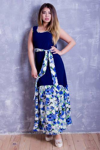Платье норма женское цветы