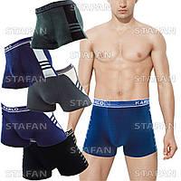 Мужские трусы боксеры стрейч Karlo 202 2XL 50-52. В упаковке 6 штук