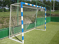 Сетка мини-футбольная (гандбольная) простая 100х100 мм д-р шнура 3.0 мм зал с гасителем