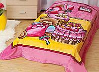 Плед из микрофибры Мишка и зайка (на розовом)
