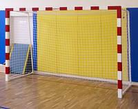 Сетка мини-футбольная (гандбольная) простая игровая д-р шнура 4,0 мм дл зала с гасителем