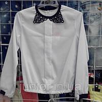 Школьная блузка с ажурным воротником Mariatex (Польша)