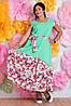 Платье батал женское цветы, фото 3