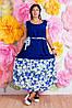 Платье батал женское цветы, фото 4
