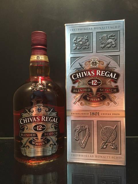 Купажированый Шотландский виски Chivas Regal 12 years old 1л