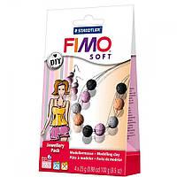 """Подарочный набор Фимо Софт FimoSoft Jewellery Pack Coral """"Набор для украшений Коралл""""+подарочный пакет"""