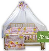 Комплект в детскую кроватку, Амурчик 6 элементов бязь (2050038)