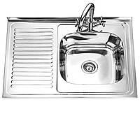 Мойка для кухни накладная OraLux D8060A сатин