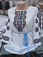"Жіноча вишита блузка ""Воля"" голуба, фото 1"