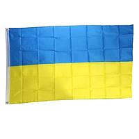 Флаг Украины для флагштока 90х150 см двухсторонняя цветная печать
