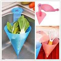 Дуршлаг складной для мытья ягод, фруктов или сбора очисток