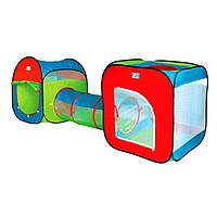 Детская игровая палатка с тоннелем трубой 3 в 1