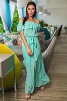 Легкое шифоновое платье в пол