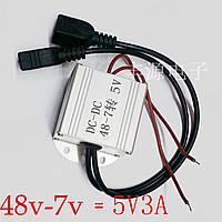 Преобразователь напряжения 7В--59В / 5 v 3а с двумя  разъёмами USB