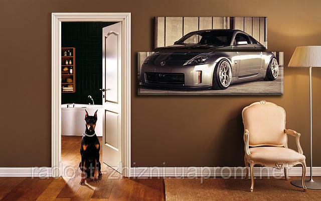"""Модульная картина """"Nissan"""". Печать на холсте."""