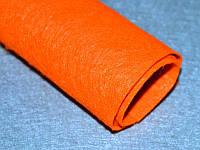 Фетр 246  Ярко-оранжевый  40х50 см толщина 1 мм