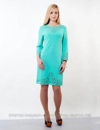 Летнее платье женское перфорация батал