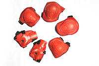 Комплект защиты для роликов красная S