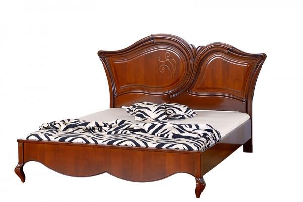 KP213 Кровать 1600 деревян. с апликацией