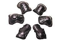 Комплект защиты для роликов взрослый черный