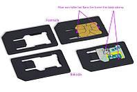 Адаптер переходник для Nano Sim карт (iPad 4, Mini, iPhone 5G)