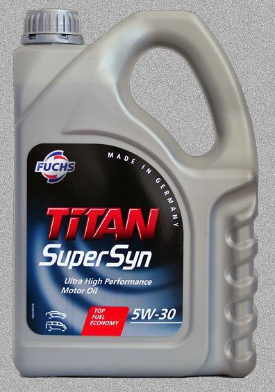Моторное масло FUCHS TITAN SUPERSYN 5W30 4L для автомобиля синтетика