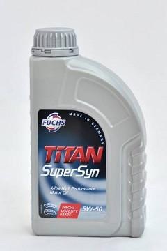 Моторное масло FUCHS TITAN SUPERSYN 5W50 1L для автомобиля синтетика