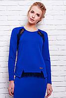 Блуза кофта женская из структурного трикотажа с кружевом 42-46 размеры