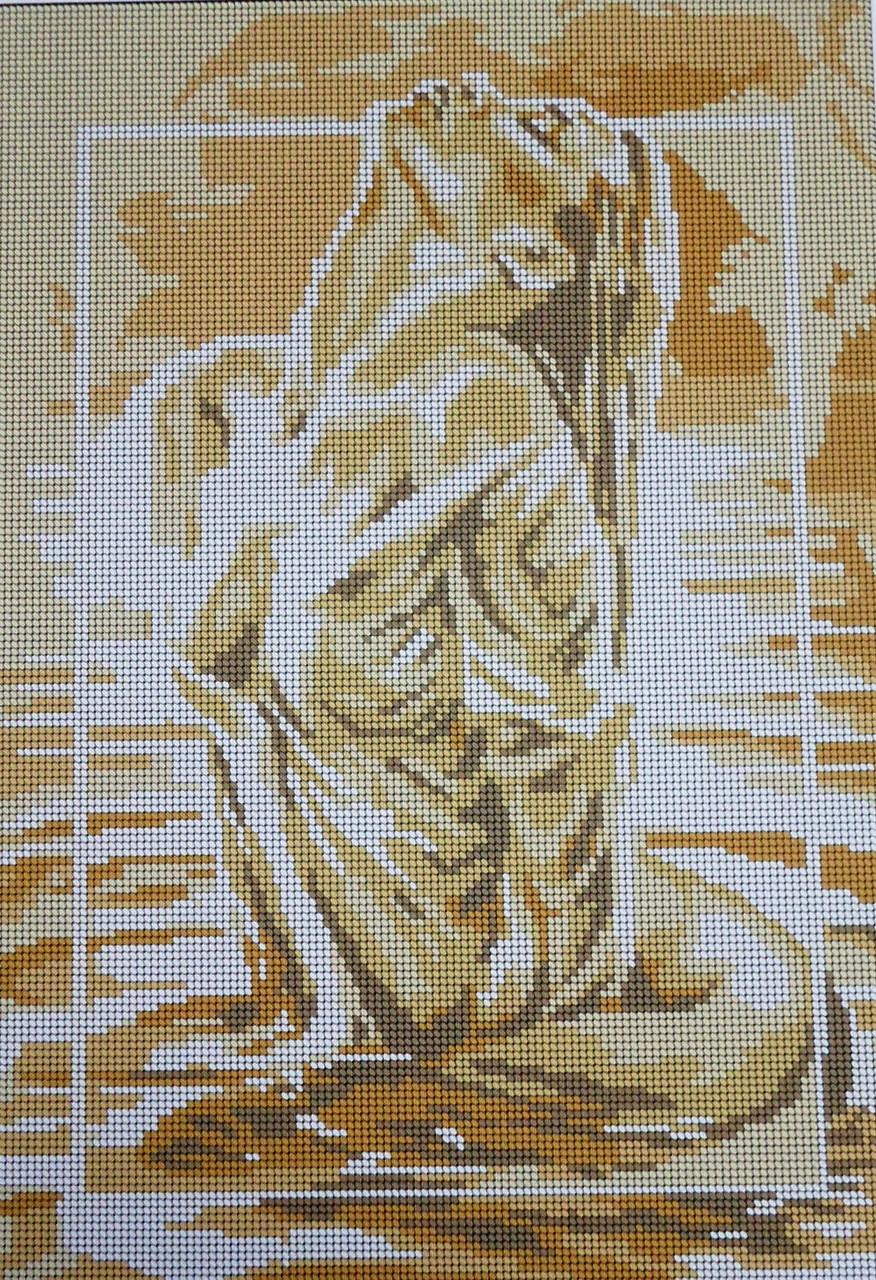 Схема монохром вышивки бисером