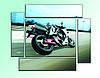 """Модульная картина """"Мотоцикл"""". Картина на холсте."""
