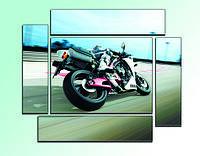 """Модульная картина """"Мотоцикл"""". Картина на холсте., фото 1"""