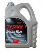 Моторное масло FUCHS TITAN SUPERSYN LL 5W-40 4L для автомобиля синтетика
