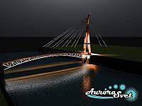 Архитектурная подсветка мостов. LED освещение. Светодиодное освещение. Профессиональное освещение сооружений., фото 1