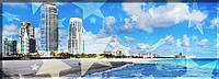 """Панорама. Панно """"Пляж"""". Картина на холсте., фото 1"""